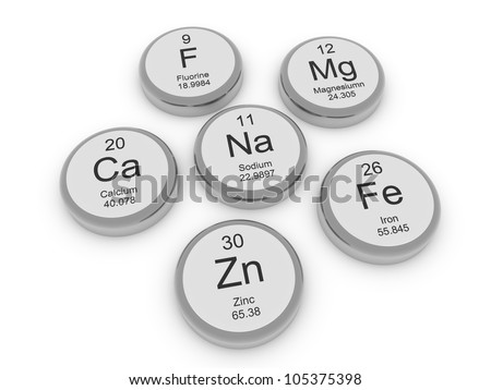 Some metal minerals - stock photo