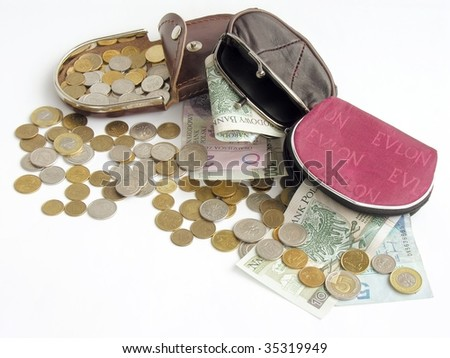 some money from purses