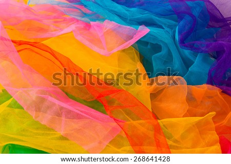 Some multicolored fabric. - stock photo