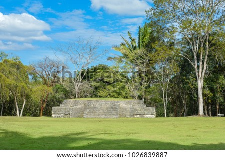 Some of the structures at Xunantunich archaeological site of Mayan civilization in Western Belize. Central America