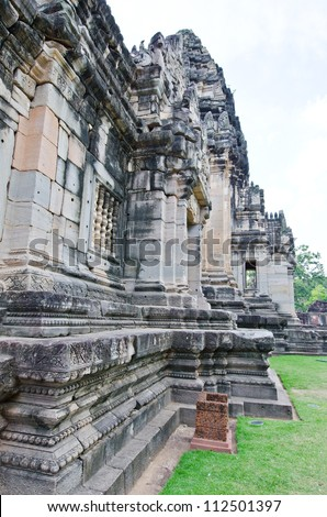 Some Part of The Principal Tower at Phimai Historical Park, Thailand.