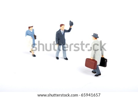 some people in travel work - stock photo
