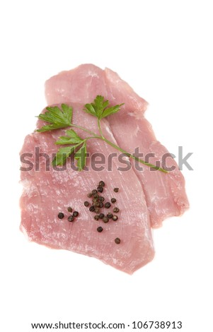 some raw meat steak isolated on white