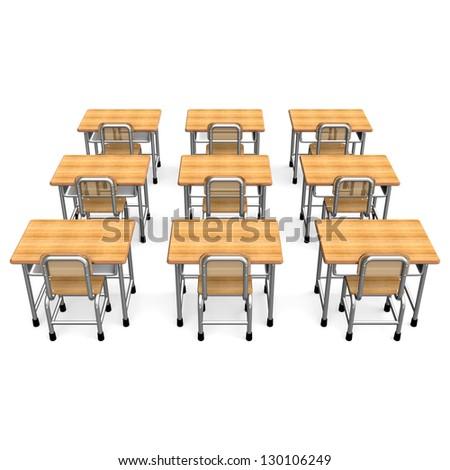 Superbe Some School Desk Back View