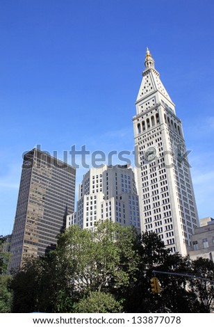 Some skyscraper in New York City, Usa - stock photo