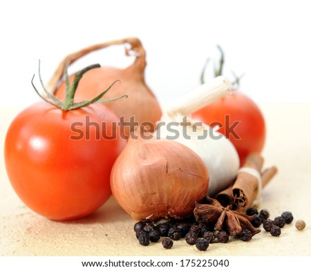 some spicy things for good taste of cooking - stock photo