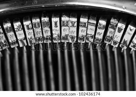 some typos of an old typewriter - stock photo