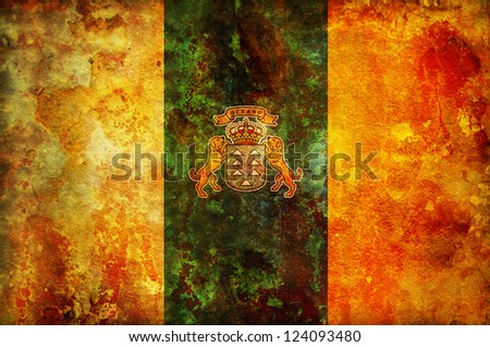 some very old vintage symbol of canary islands - stock photo