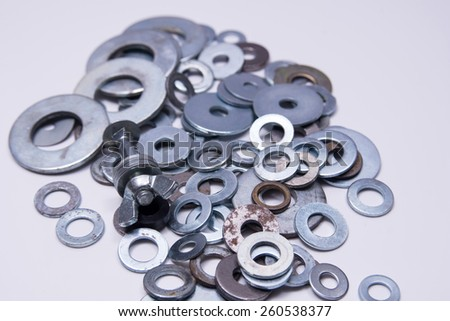 Some washers together with a bolt