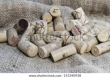 Some wine corks with great colors and amazing light