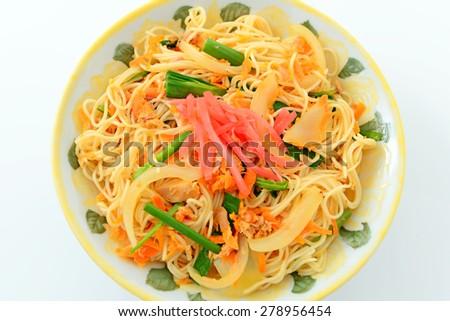 Somin Chanpuru - Okinawan cuisine - stock photo
