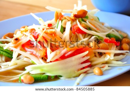 Somtum Thai food - stock photo