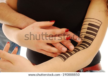 Sonata for young lovers - stock photo
