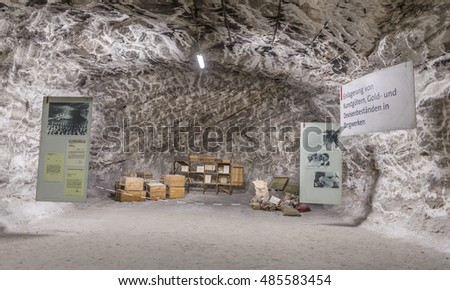 SONDERSHAUSEN, GERMANY - SEP 18, 2016: people visit the museum war in mining plant Sondershausen in Germany. Reopened as a tourist mine in 1996 and reopened as a halite producing mine in 2006.