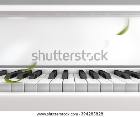 Song love waiting to play, digital art illustrations - stock photo