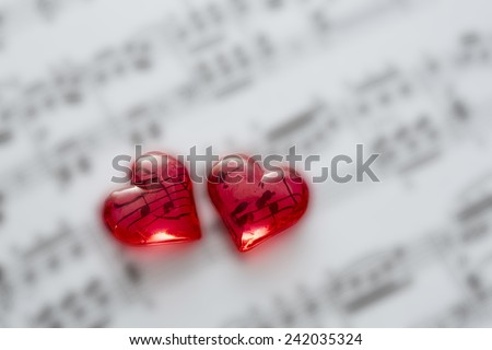 Song of love - stock photo
