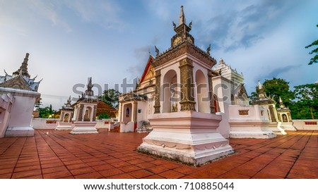 Songkhla, Thailand. Feb. 11, 2017: The beauty of the KoTao temple and When the ancient temple pavilion, KuTao, Songkhla was awarded the 2011 Asia-Pacific Cultural Heritage Conservation Award by UNESCO