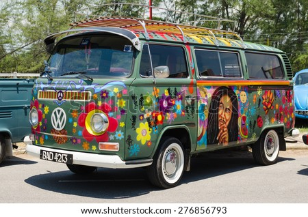 volkswagen van hippie interior. songkhla thailand may 02 hippie volkswagen kombi meeting in van interior