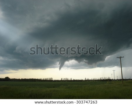 Soon to be the strongest tornado in Canada