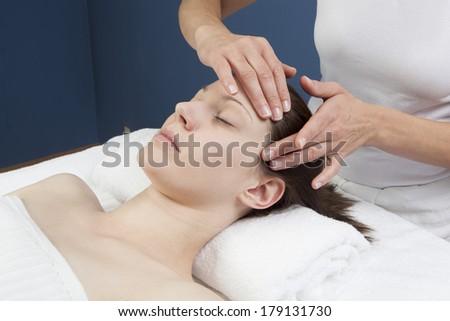 soothing ayurveda treatment - stock photo
