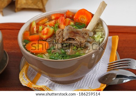 sop kambing, Indonesian lamb soup