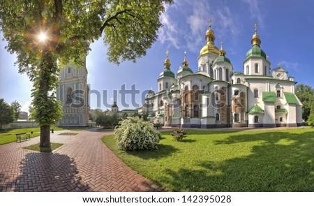 Sophia cathedral in Kiev - stock photo