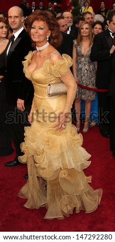 Sophia Loren  arriving at the 81st Academy Awards at the Kodak Theater in Los Angeles, CA  on February 22, 2009 - stock photo