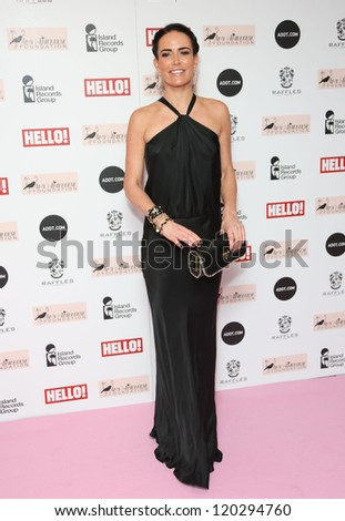 Sophie Anderton arriving at the The Amy Winehouse foundation ball held at the Dorchester hotel, London. 20/11/2012 Picture by: Henry Harris - stock photo