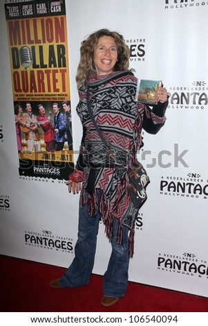 """Sophie B. Hawkins at the Opening Night Of """"Million Dollar Quartet,"""" Pantages, Hollywood, CA 06-19-12 - stock photo"""
