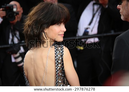 Sophie Marceau attends the opening ceremony and 'La Tete Haute' premiere during the 68th annual Cannes Film Festival on May 13, 2015 in Cannes, France. - stock photo