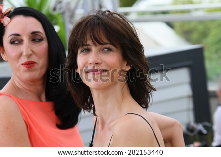 Sophie Marceau, Rossy de Palma attends the Jury photocall during the 68th annual Cannes Film Festival on May 13, 2015 in Cannes, France. - stock photo