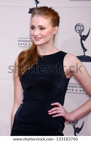 """Sophie Turner at """"An Evening with The Game of Thrones"""" hosted by the Academy of Television Arts and Sciences, Chinese Theater, Hollywood, CA 03-19-13 - stock photo"""