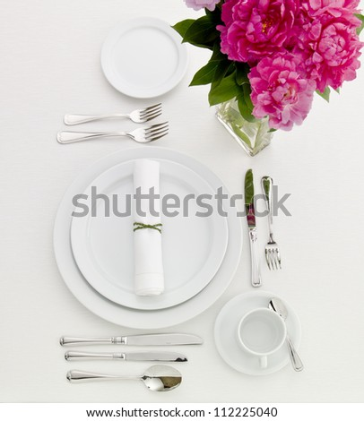 Sophisticated Dinner Table Set - stock photo