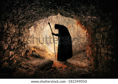 sorcerer - stock photo