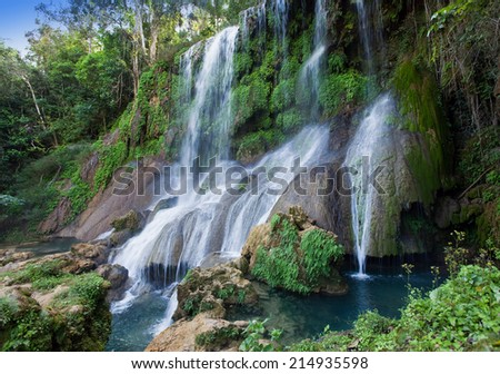 Soroa waterfall, Pinar del Rio, Cuba - stock photo