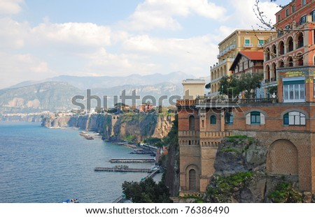 Sorrento coast, south of Italy - stock photo