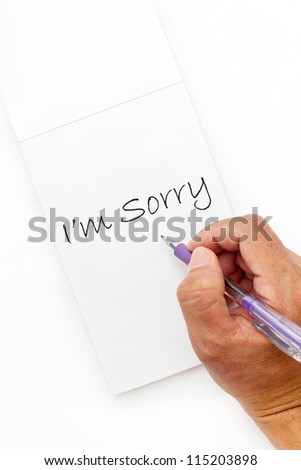 sorry hand write writing writing note note