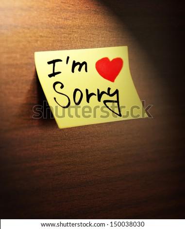 sorry handwritten - stock photo