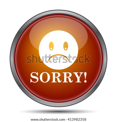 Sorry icon. Internet button on white background.
