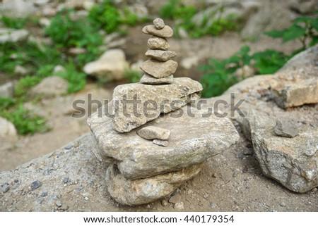 Sort meditation stones. - stock photo