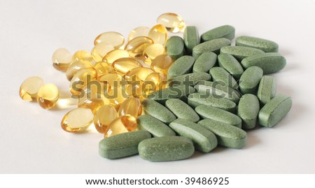 Sorted dietary supplements - stock photo
