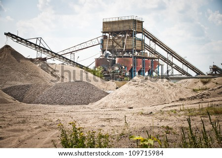 Sorting plant - mining industry - stock photo