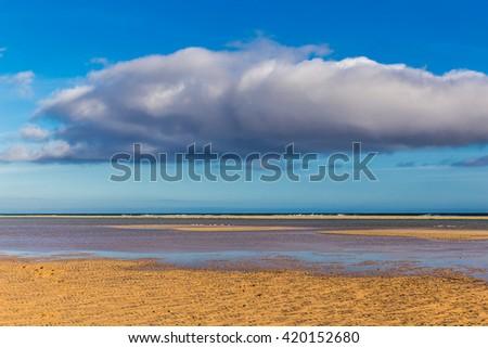 Sotavento Beach During Summer Day - Fuerteventura, Canary Islands, Spain - stock photo
