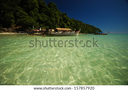 Sothern sea of Thailand - stock photo