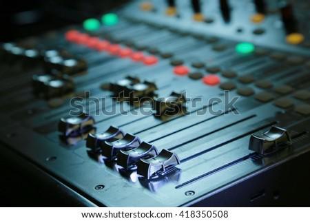 sound board  - stock photo