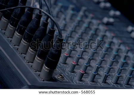 Sound Board clouse-up - stock photo
