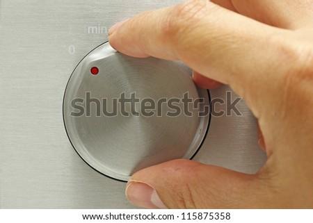 Sound control knob - stock photo