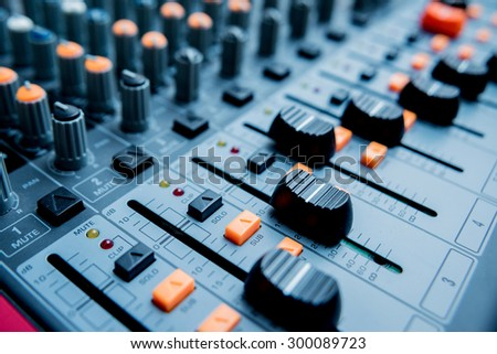 Sound Control. Mixer, sequencer. Background