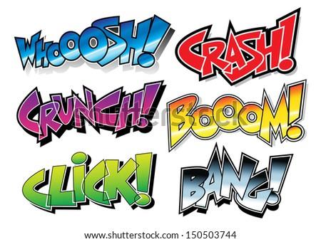 Sound Effects: Comic Book / Graffiti Style - stock photo