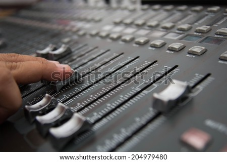 Sound engineer - stock photo